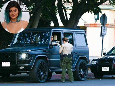 Kylie caught by police