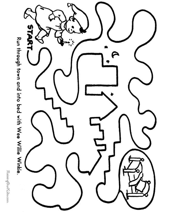 printable mazes for kids  tracing pathways
