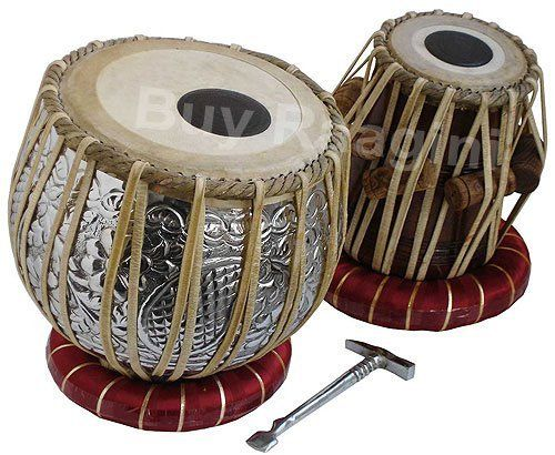 Professinal Quality Copper Tabla 4 Kg(PDI-FI) by buyRaagini.com. $234.00. Tabla is a pair of drums that seems to have come to India in 13th century. It is used in Hindustani classical as well as light music. A tabla set comprises two drums with animal skin to cover heads. The two drums are bass drum and Treble drum. Bass, also called bayan is the bigger drum, played with the left hand, and the treble, also called dayan, is placed on the right. The bayan is crafted wit...