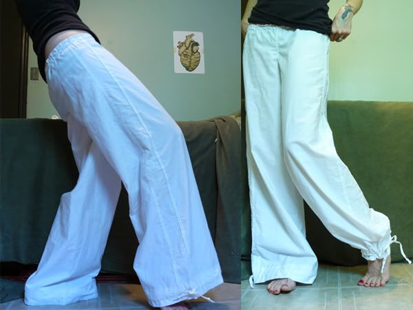 Easy Wide Leg Pants Tutorial (really cute with the drawstring on the bottom hem)