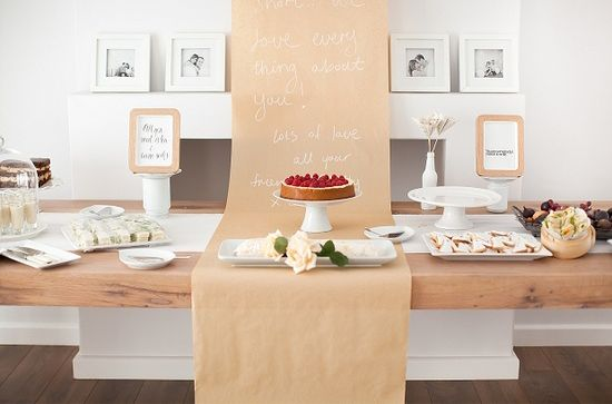 butcher paper wedding tables - Google Search