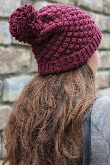 Ponponlu Örgü Şapka Modelleri