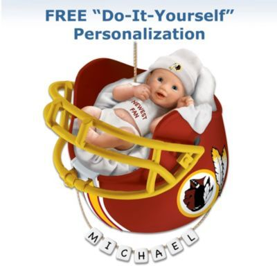 Washington Redskins Personalized Baby's First Christmas Ornament - http://bradford-exchange.goshopinterest.com/collectibles/ornaments/washington-redskins-personalized-babys-first-christmas-ornament/