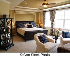 Black and Blue Master Bedroom - Nicely decorated master...