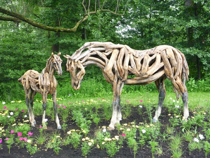 17 Best Images About Drift Wood Horse Sculptures On