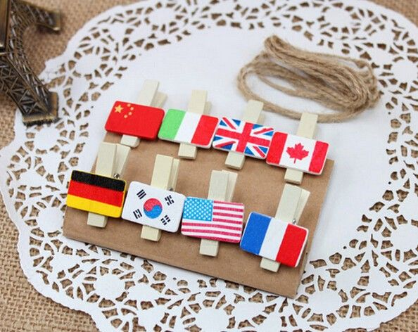 3.3x1.9cm Wooden Hemp Rope Flag Pattern Adornment Mini ... - photo #20