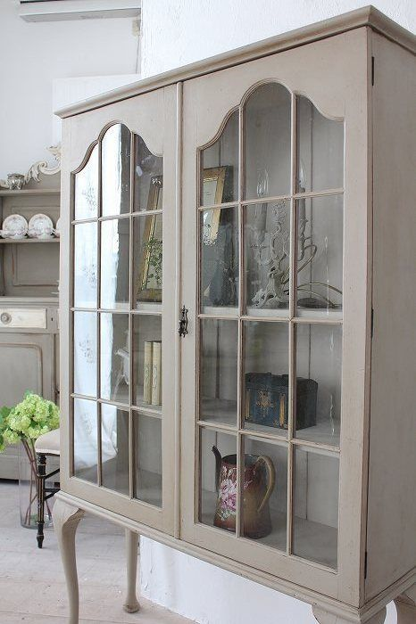 Vintage Shabby Chic Glass Fronted Display Cabinet Cupboard Storage Annie  Sloan | Display cabinets, Vintage shabby chic and Annie sloan - Vintage Shabby Chic Glass Fronted Display Cabinet Cupboard Storage