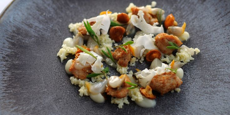 This is a delicious veal sweetbreads recipe by Adam Simmonds. Cockles, cauliflower couscous and girolles accompany the succulent sweetbreads...