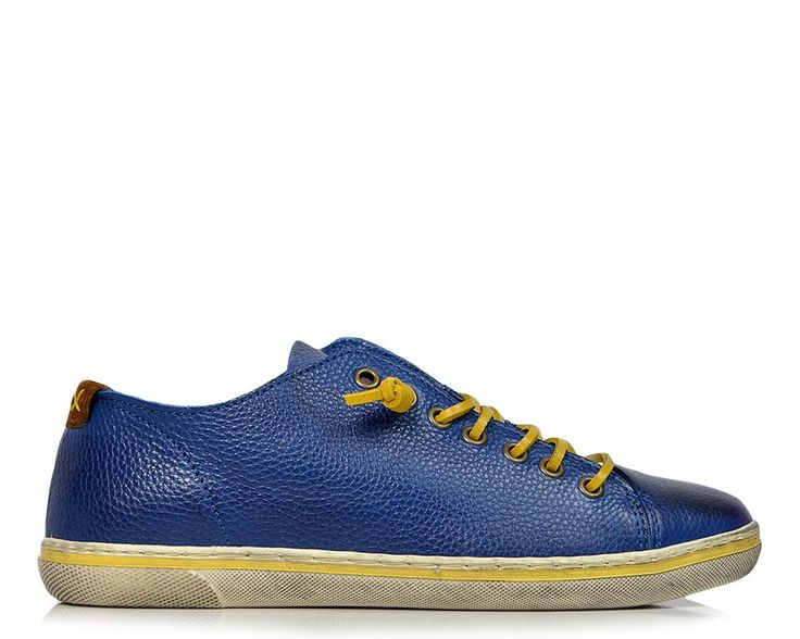 Ανδρικά Casual Urbanfly 5143B Premium Leather Blue Rua
