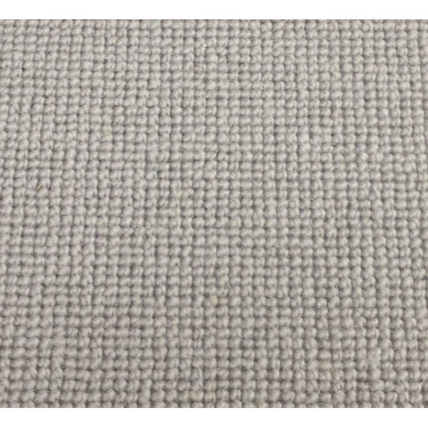 Manx Natural Shades Plain Clay 50% Wool 50% Polypropylene Grey Loop Carpet - Manx from All Floors UK