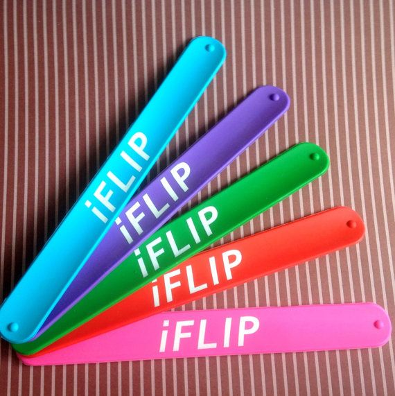 Would be great party favors for a gymnastics themed bday party! Slap Bracelets just for Gymnasts 5 fun colored by HandXStand, $15.00