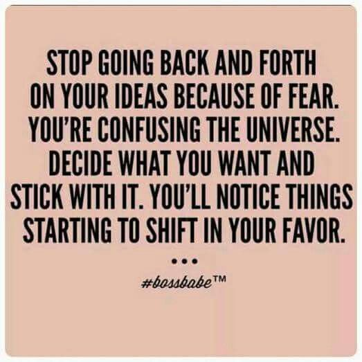 Focus & go for it