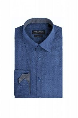 Zafírová modrá pánska košeľa