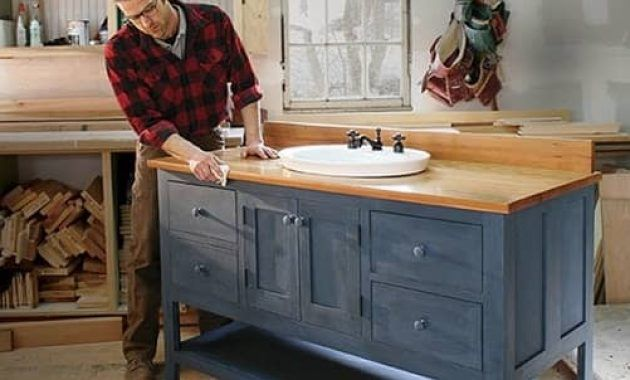 Diy Make Your Own Bathroom Vanity With Easiest And Simplest