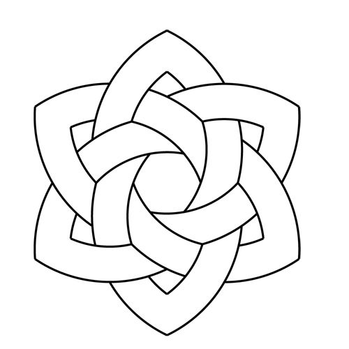 celtic knotwork hexarose