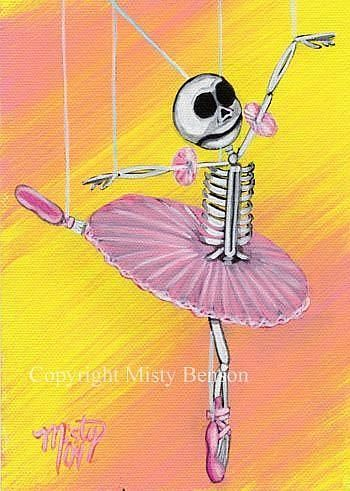 "Tiny Dancer"" Skeleton Art - by Misty Benson from Gallery"
