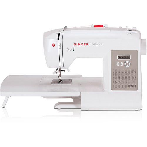 Máquina de Costura Singer Brilliance 6180 Branca Uso Doméstico