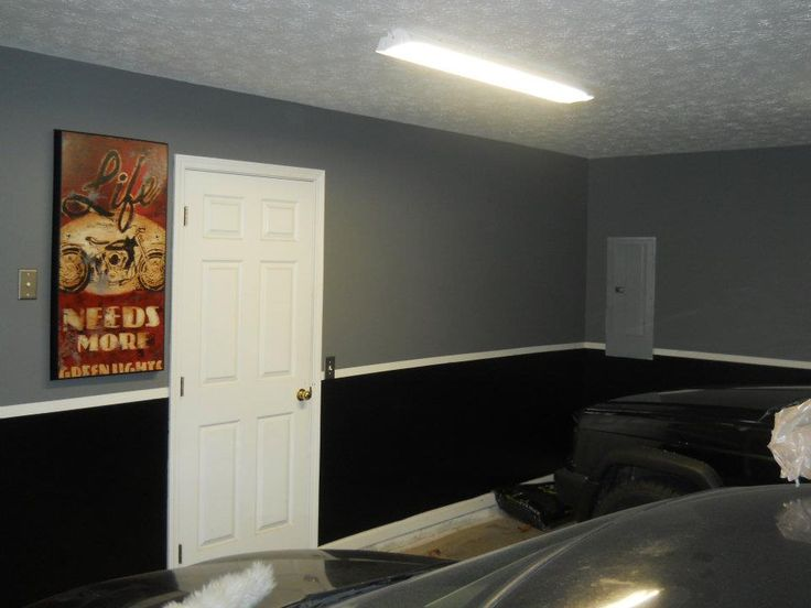 garage paint love this idea of a two tone look definitely considereing remodeling garage. Black Bedroom Furniture Sets. Home Design Ideas