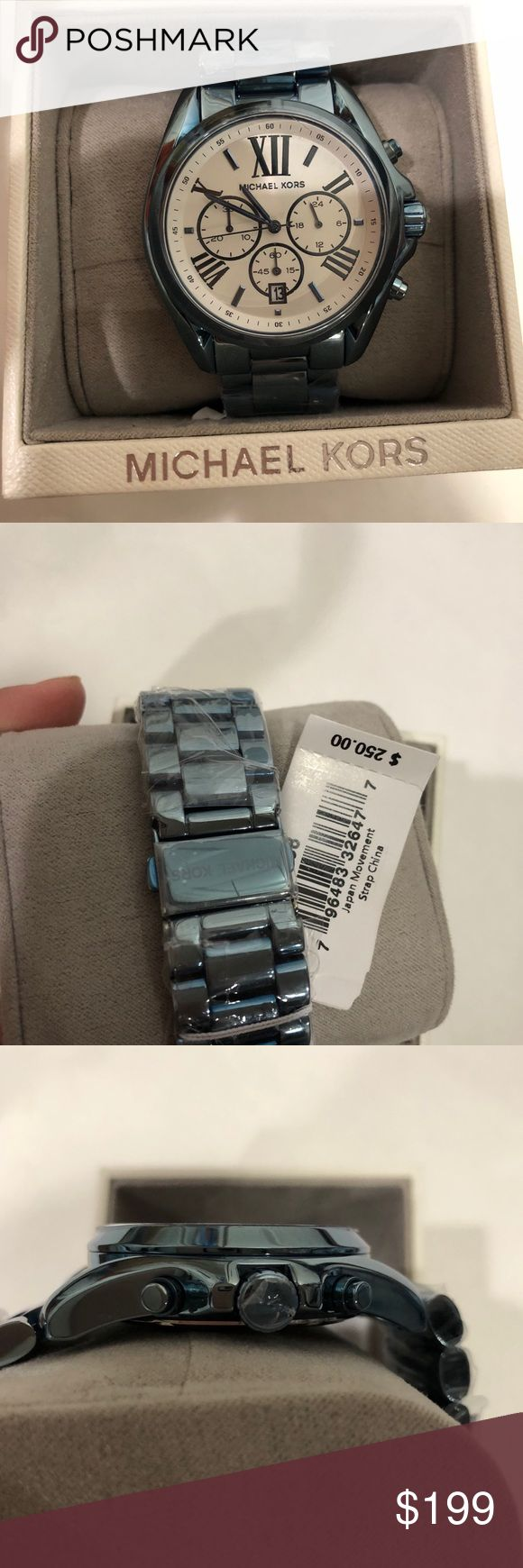 Michael kors blue watch Brand new with box and tags. Beautiful watch. Still has film on the band. 100% authentic. Michael Kors Accessories Watches