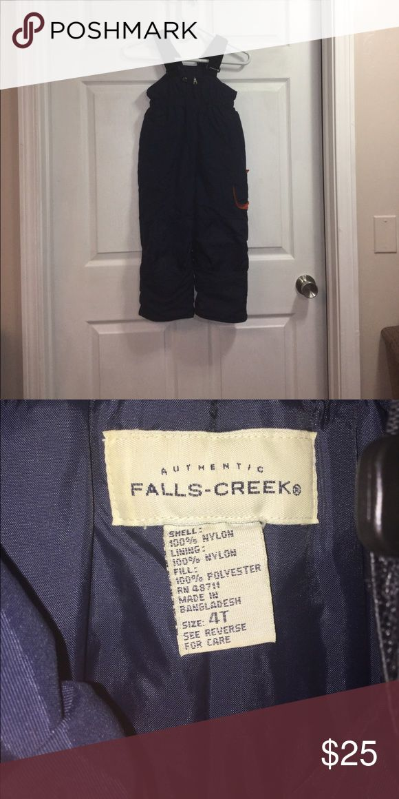 Authentic falls creek snow pants Colors are blue black and orange Falls creek Other