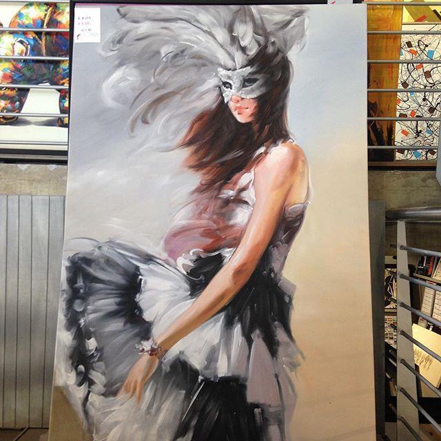#maskedball #masked #painting #art #woman #walldecor #interiordesign