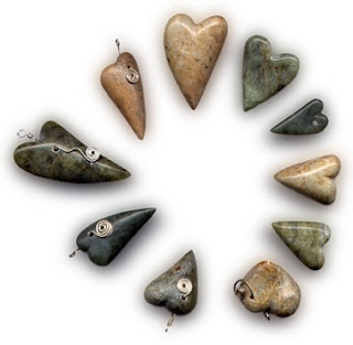 I love these soapstone hearts! they are so beautiful