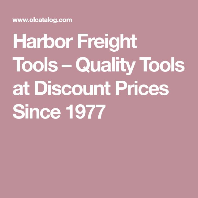 Harbor Freight Tools – Quality Tools at Discount Prices Since 1977