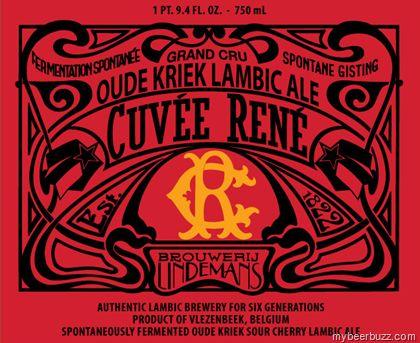 mybeerbuzz.com - Bringing Good Beers & Good People Together...: Lindeman's - Oude Kriek Cuvée René Bottles Coming ...