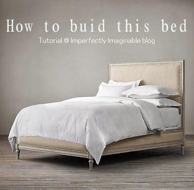 Imperfectamente imaginable: ¿Cómo construir una cama Maison hardware restauración inspirada utilizando base de la plataforma de ana blanco para empezar