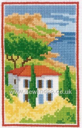 Buy Tuscan View Cross Stitch Kit Online at www.sewandso.co.uk