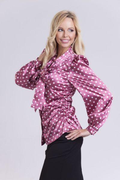 Purple satin blouse   Satin Blouse