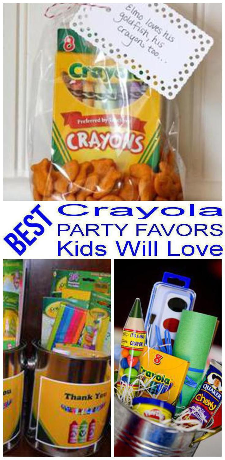 birthday party favors crayola party favors for a kids bday the best crayola favor ideas all children will love fun easy ideas for a boy or girl party