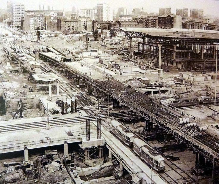 Warsaw under construction, 1973