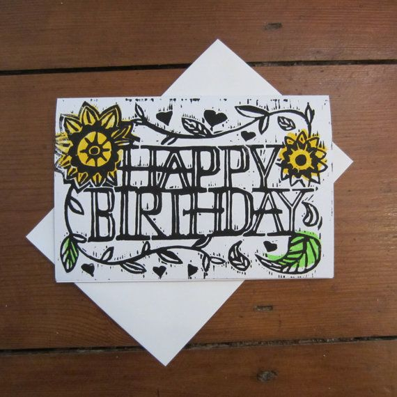 HAPPY BIRTHDAY CARD (Colour) on Etsy, £2.07