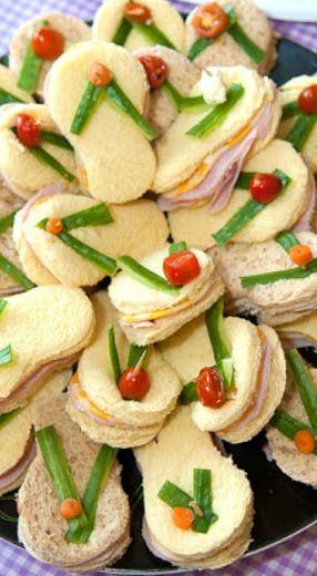 Flip Flop Sandwiches ~ cute idea for a beach or spa themed party