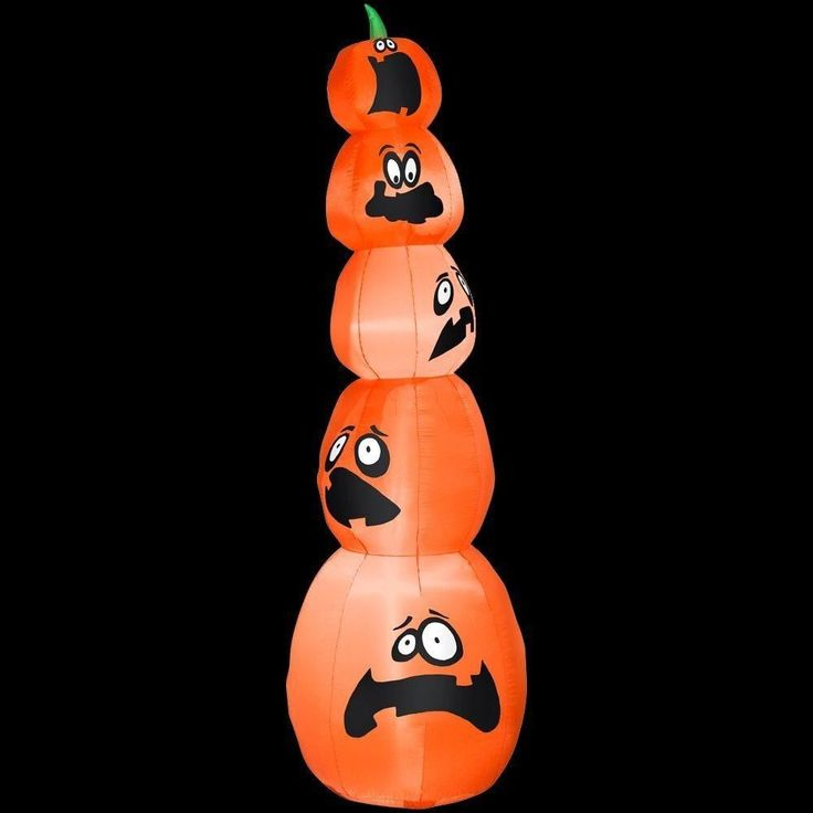 Halloween Inflatable 8 ft. #airblown Lighted Stacked #pumpkins for House #decor #Halloween