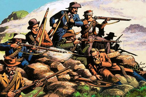 picture, Boer War, Battle of Majuba Hill, British, Boers, soldiers, rifles- This Day in History: Feb 27, 1881: The Battle of Majuba Hill, South Africa http://dingeengoete.blogspot.com/