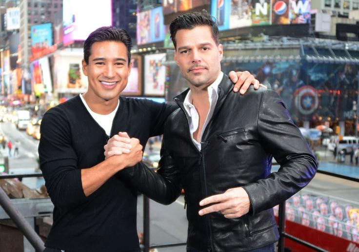 Ricky Martin and Mario Lopez for Extra TV!