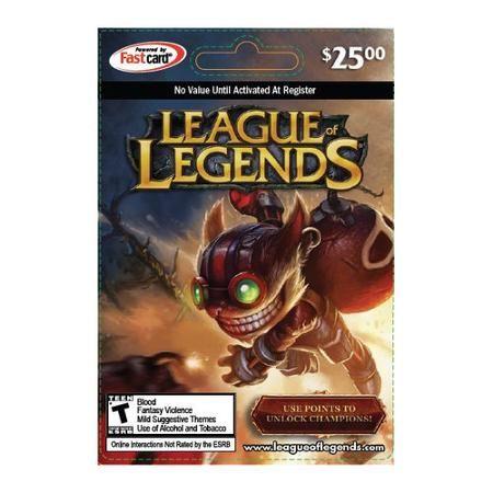 League of Legends $25 Riot Points Card