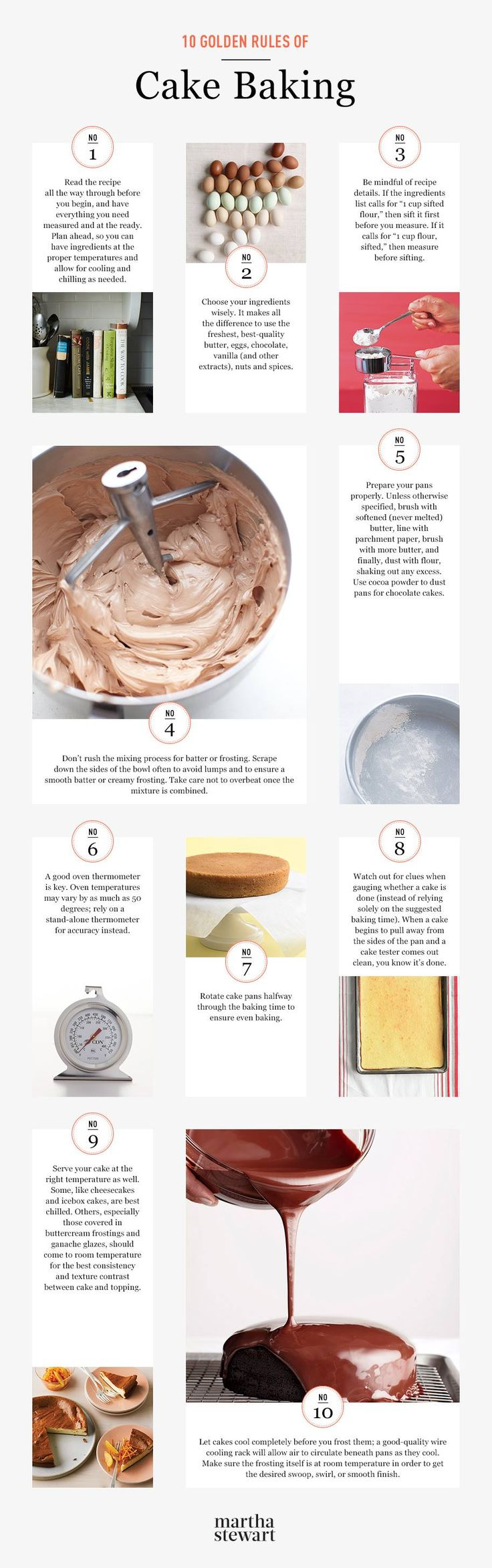Martha Stewarts: 10 Golden Rules of Cake Baking