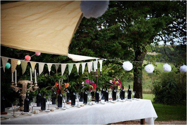 DIY wedding reception | Image by Lydia Taylor-Jones, read more http://www.frenchweddingstyle.com/80s-inspired-wedding-france/