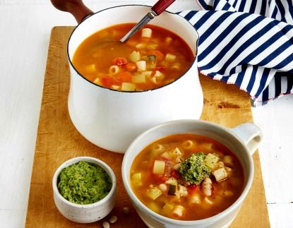 French Pistou Soup. Delicious! I increased the stock to 8 cups.
