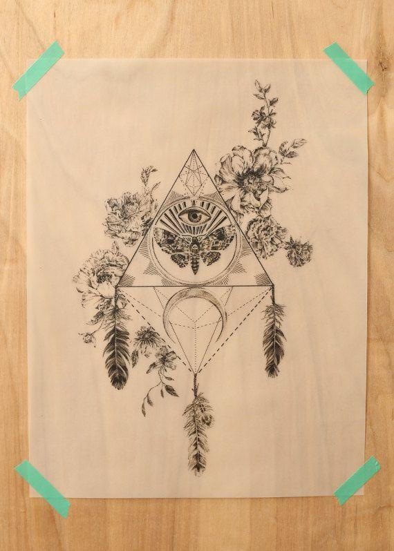 Death's Head Hawk Moth Toten Art Print on by songdancedesign
