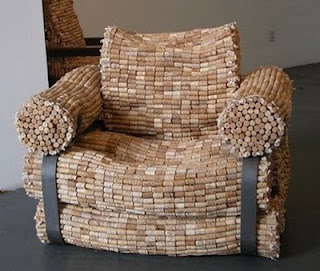 made of recycled wine corks