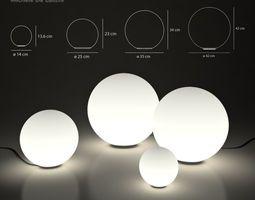 Landscape lamps Artemide Dioscuri tavolo 3D Model