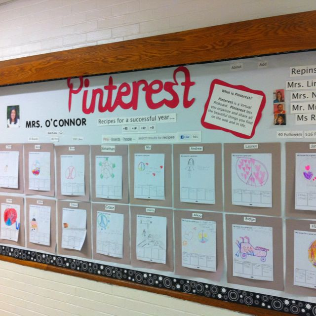 Back to School Bulletin Board... Kids could create their own interest board and put them in categories such as sports, cooking, travel...etc