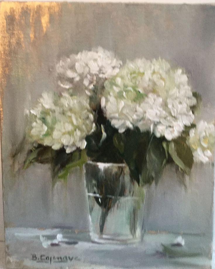 Oil on linen by french artist : Brigitte Cazenave