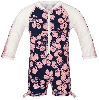 UV zwemkleding meisjes - UV baby zwempak <br/>Snapper Rock Hibiscus Navy/Pink