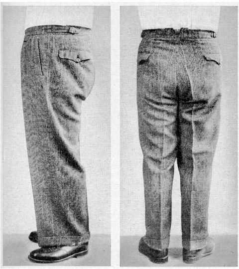 "Fixing ""horseshoe"" folds in trousers"