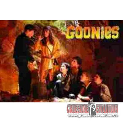 From the hit movie The Goonies comes this excellent movie scene poster. Poster is new and measures 24 x 36 inches.